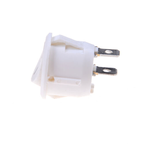 5 Pcs Car 12V ON//OFF Round Rocker Boat Toggle Switches Push Button White TO