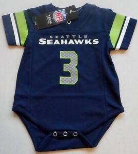 timeless design 8be1d 64839 Details about RUSSELL WILSON SEAHAWKS JERSEY BABY INFANT TODDLER ONE PIECE  0-3 3-6 6-9 MOS.