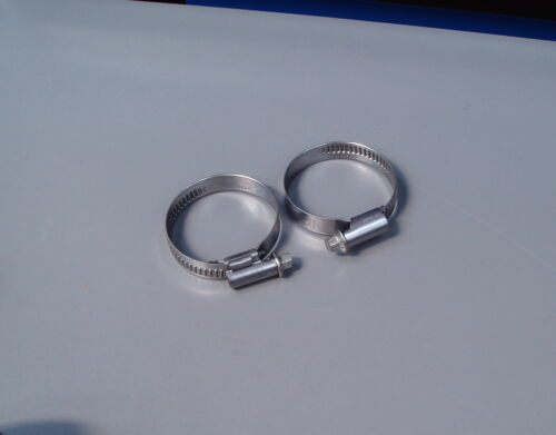 Hose Clips stainless Steel pack of two various sizes