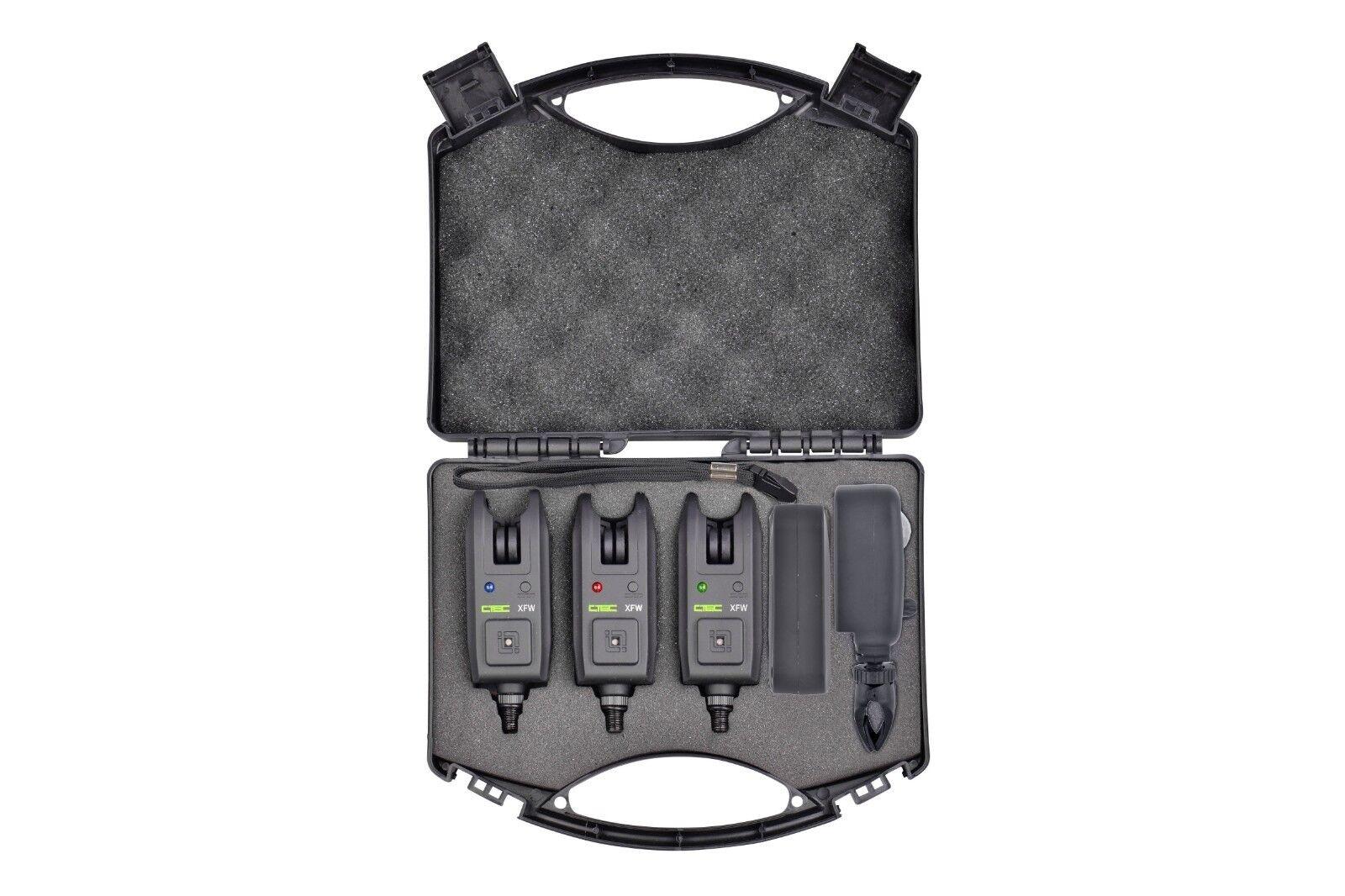 Spro C-Tec XFW Funkbissanzeiger 3 + 1 Alarm Set mit Bewegungsmelder Bissanzeiger