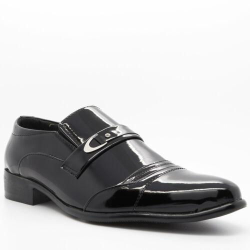 Formelle pour homme en cuir de brevets chaussures noires mariage robe Parti italien décontracté taille