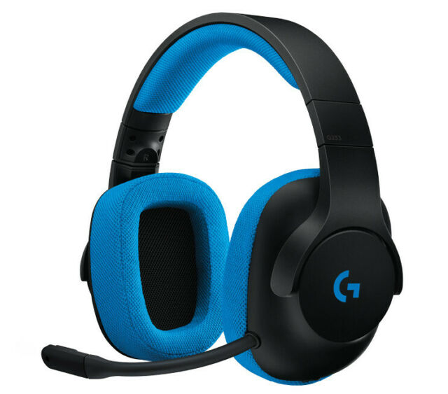 Logitech G233 Prodigy Wired schwarz/cyan Gaming-Headset Aussteller
