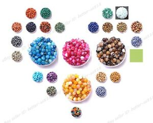 Natural-Gemstone-Round-Spacer-Loose-Beads-4MM-6MM-8MM-10MM-12MM-Pick-Assorted
