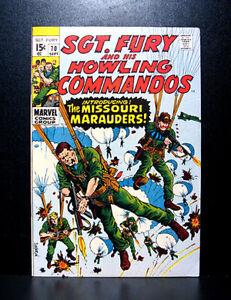 COMICS-Sgt-Fury-and-his-Howling-Commandos-70-1969-1st-Missouri-Marauders