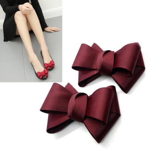 Color Grosgrain Ribbon Red Black Ivory Wedding Fashion Bow Shoe