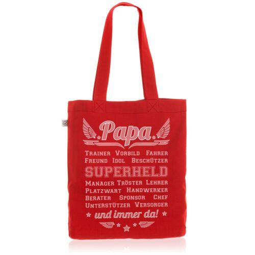 Papa Vorbild Superheld Baumwollbeutel Beutel Jutebeutel Tasche Vatertag Geschenk