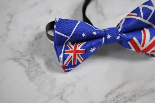 Father Son Match Cotton AUSTRALIAN FLAG Aussie Australia Day Bow Tie Bowtie