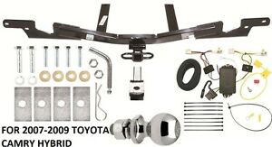 trailer hitch tow package for 07 09 toyota camry hybrid wiring rh ebay com Toyota Camry Rear Diff Vinyls for Toyota Camry 2012