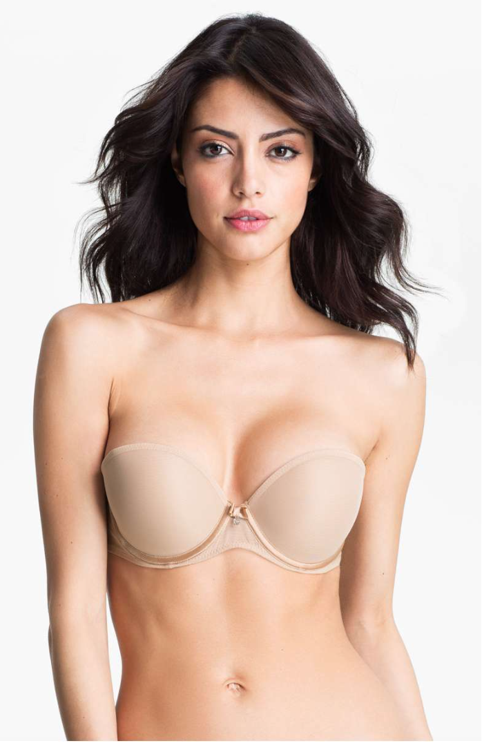 Details about  /Chantelle Sublime Invisible Plunge Strapless Bra 3954 Nude 34DD-$78   NO STRAP