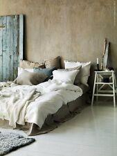 (Price Drop!) QUEEN/FULL IKEA Linblomma 100% Linen Duvet Cover Set White