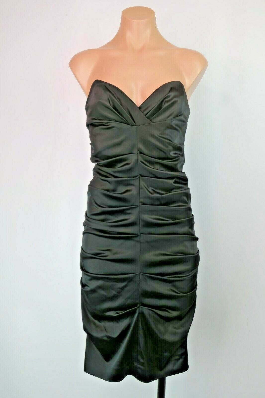 Nicole Miller Collection Ruched Fitted Sexy schwarz LBD Dress Cocktail Party Sz 4
