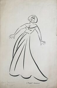 Lucienne-Pageot-Rousseaux-Drawing-Original-Ink-Daisy-Jackson-1