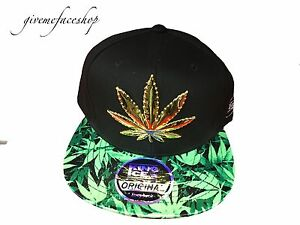 e834c021ad785 Image is loading Weed-snapback-caps-cannabis-marijuana-flat-peak-baseball-