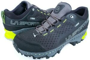 807205e67dd Details about La Sportiva Spire GTX Hiking Shoes - Mens Size 10 EU 43 Black  Carbon/Apple Green