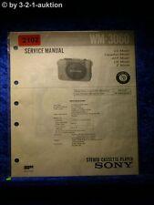 Sony Service Manual WM 3060 Cassette Player (#2102)