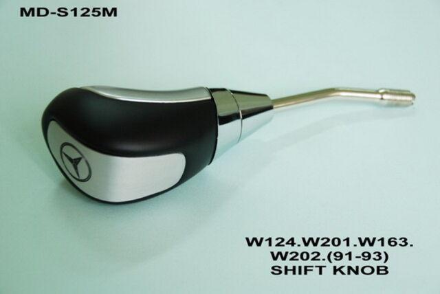 AUTO SILVER/BLACK STICK GEAR SHIFT KNOB For MERCEDES BENZ w124 w201 w202 91-93