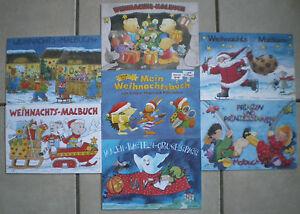 Malbuecher-Weihnachten-amp-Din-A-5-12-Blatt-Basteln-Malen-Spass-Kinder-Graetz