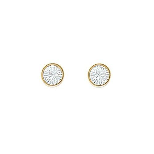 Boucles clous d/'oreilles Cristal Sertis Clos en Plaqué OR NEUF Taille au Choix