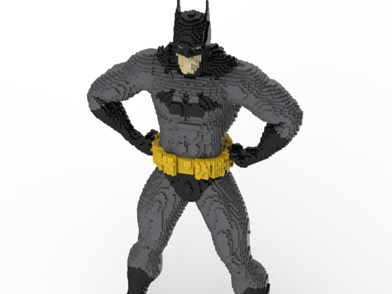 LEGO Batman Life-Größe statue building instructions