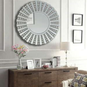3D Sunburst Venetian Glass Round Wall Mirror Art Decor ...
