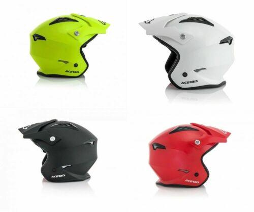 Motorcycle Helmet Acerbis Jet Aria Trial Enduro Scooter Quad yellow black...