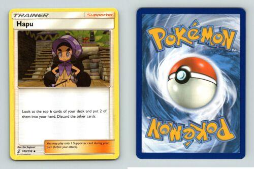 Hapu #200//236 Sun /& Moon Unified Minds Uncommon Pokemon 2019 TCG Card
