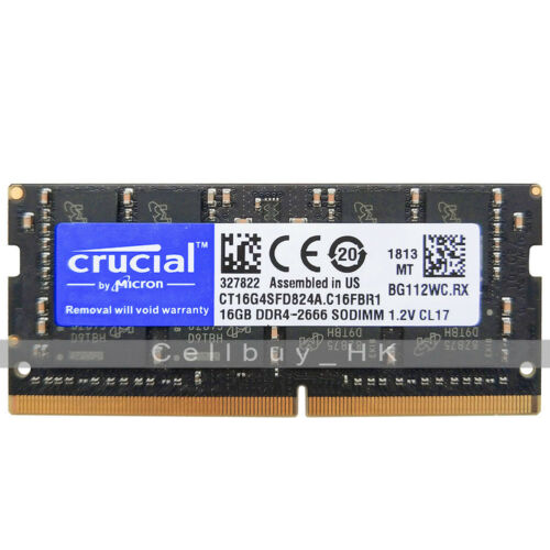 Crucial 16GB 32GB  PC4-2666V DDR4-2666Mhz DDR4 1.2v 260pin SODIMM Laptop Memory