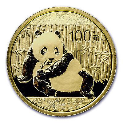 2015 China 1/4 oz Gold Panda BU (Sealed) - SKU #84909