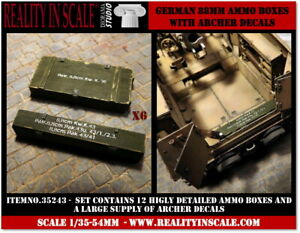 Reality-In-Scale-1-35-German-88mm-Ammo-Boxes-12-resin-pieces-and-Archer-decals