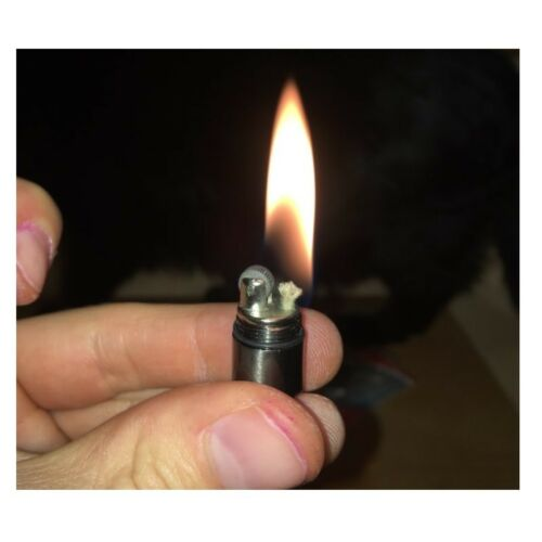 Kerosene Lighter Mini Keychain Gasoline Inflated Compact Capsule Outdoor Tools
