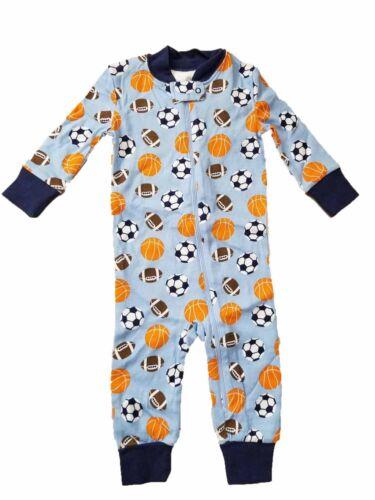Little Me Boys One Piece Sleeper Sports Sky Blue