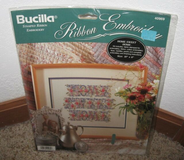 BUCILLA RIBBON EMBROIDERY KIT~HOME SWEET HOME #40969~~NIP