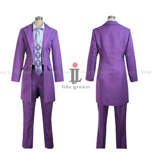 Jojo S Bizarre Adventure Yoshikage Kira Uniform Cosplay Clothing Cos
