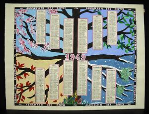 Calendario 1949.Dettagli Su Progetto Originale Di Calendario 1949 Alla Guazzo Wisden Posta Telegrafi