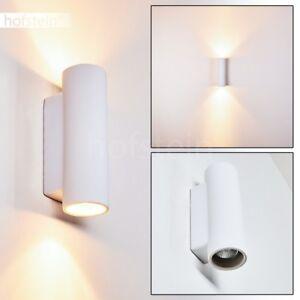 weisse Keramik Wand Lampen Flur Dielen Wohn Schlaf Zimmer Beleuchtung bemalbar