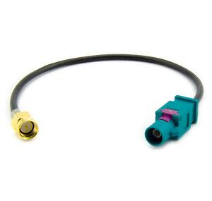 Antenne-Adapter-Kabel-fuer-VW-Audi-Seat-Skoda-Fakra-SMA-Stecker-Navi-GPS-20cm