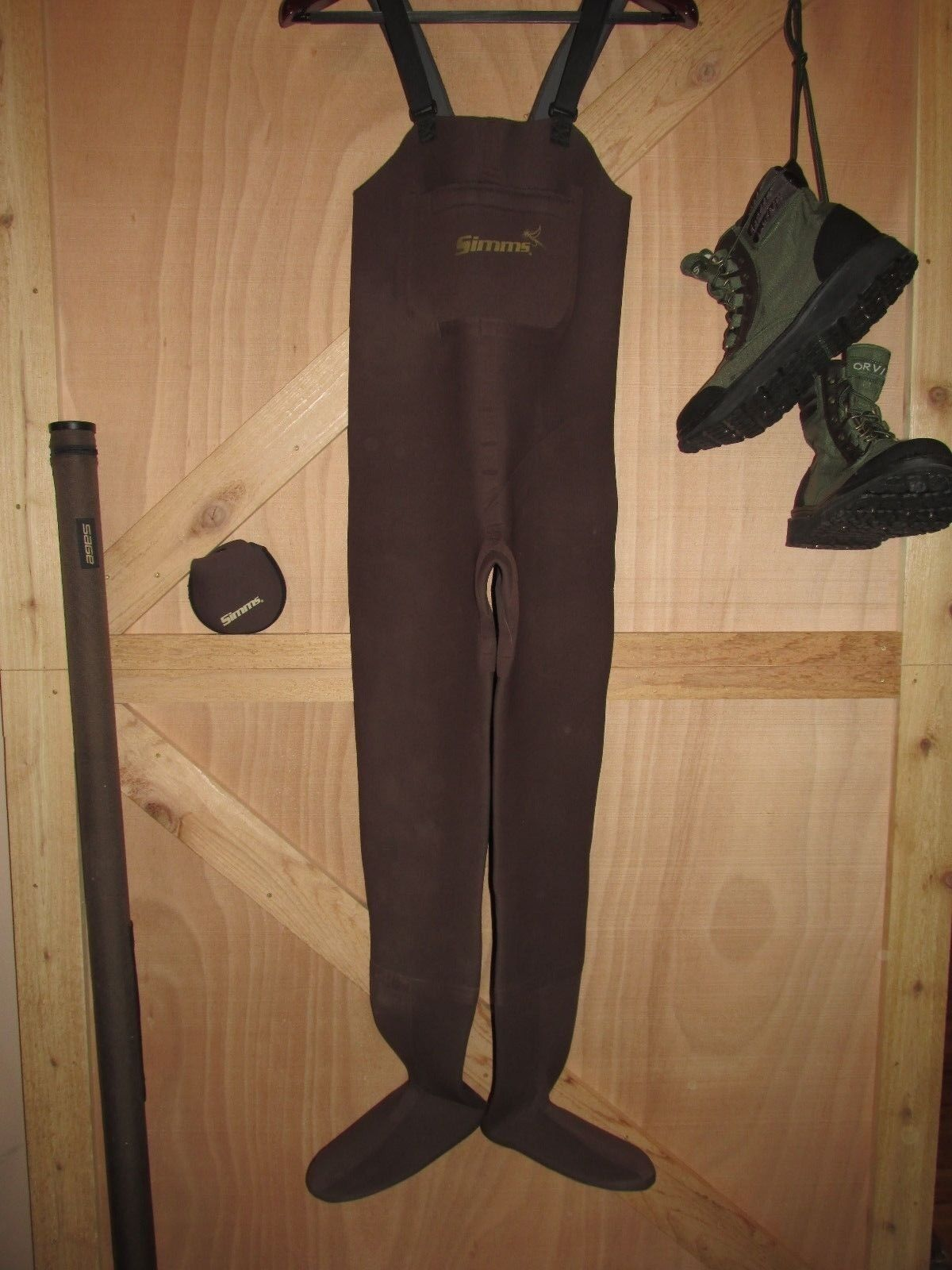 Simms Neopren Form Fuß Wader Fliege Fischen Frauen XS Made in USA
