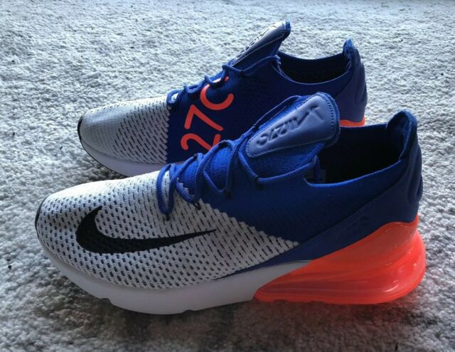 size 40 bcc2a 335a7 Nike Air Max 270 Flyknit Ultramarine Men Lifestyle SNEAKERS White  Ao1023-101 11