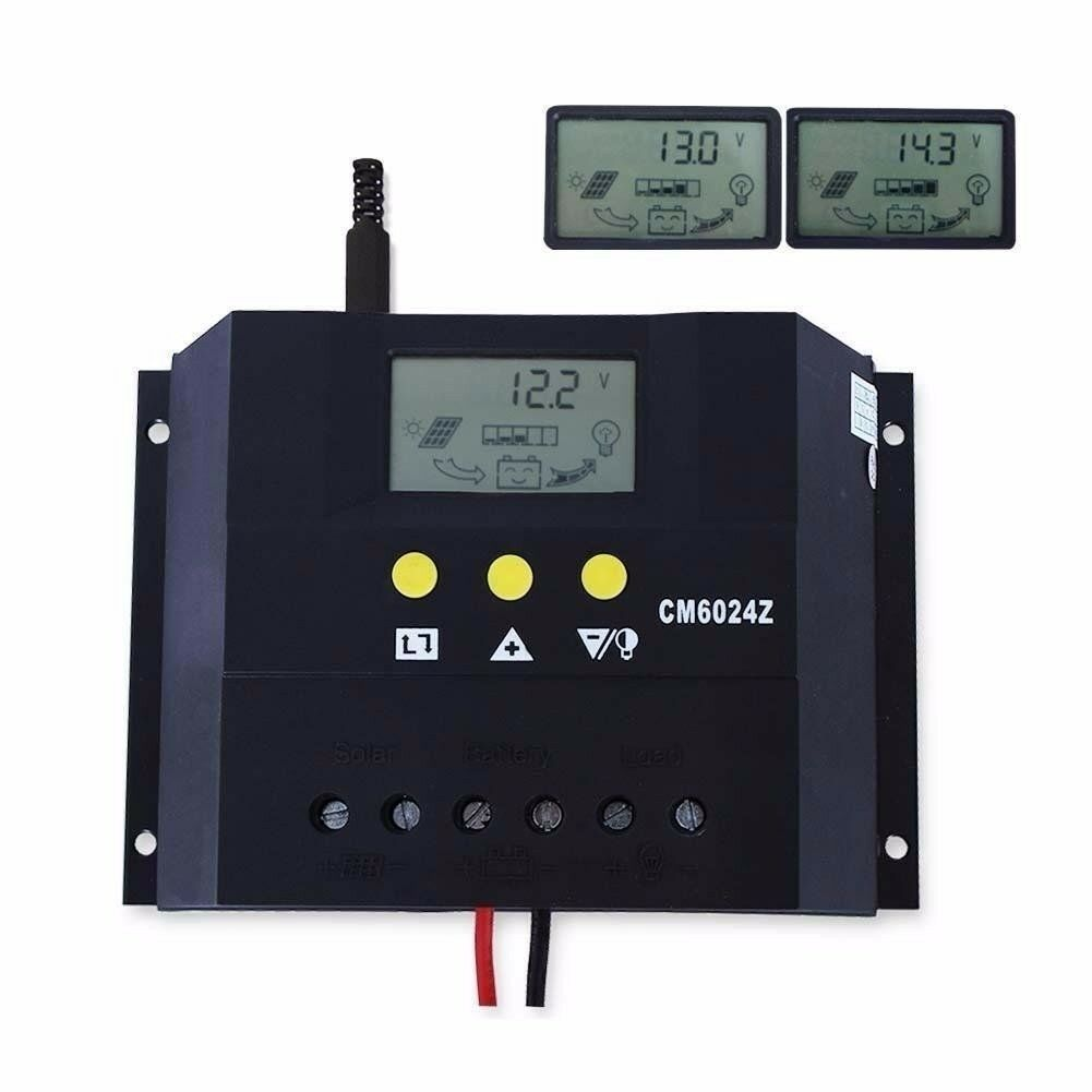 60A Solar Laderegler 12V 24V Solarpanel Controller Regulator Solarregler LCD ZW