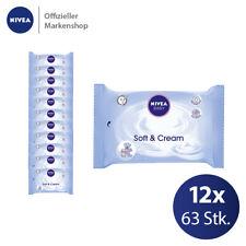 12x 63 Stk. NIVEA BABY Soft & Cream Feuchttücher - Babypflege Reinigungstücher