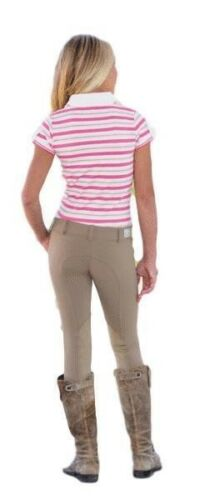 Goode Rider Girl/'s Pro Rider Knee Patch Riding Breeches with Slant Top Pockets