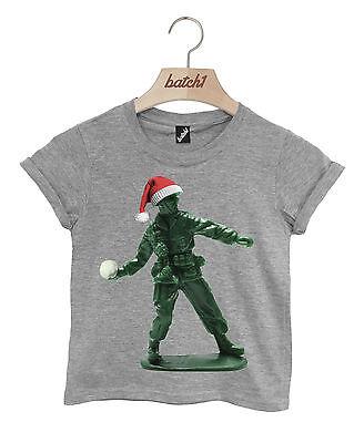 BATCH1 THE NUTCRACKER SOLDIER NOVELTY CHRISTMAS KIDS XMAS FESTIVE T-SHIRT