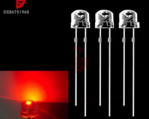100PCS F5 5mm RED Straw Hat Superbright LED Light LED lamp