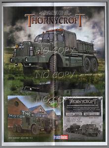 Détails Sur Poster Camion Rétro Porte Char Antar Thornycroft Armée Britannique 56x42cm