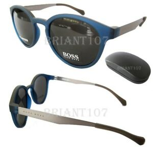 aed96b4a16 NWT Hugo Boss 0869 S 0SEM9 Sunglasses Blue matte Gray Polarized Lens ...