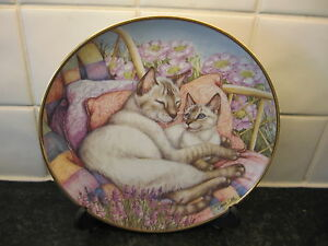 SIAMESE CAT  PLATE    A  MOTHERS LOVE    DANBURY MINT - <span itemprop=availableAtOrFrom>Finedon, Northamptonshire, United Kingdom</span> - SIAMESE CAT  PLATE    A  MOTHERS LOVE    DANBURY MINT - Finedon, Northamptonshire, United Kingdom