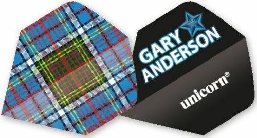 Authentic Flight Gary Anderson Tartan Dart 3er Set = 9 Flights Unicorn Darts