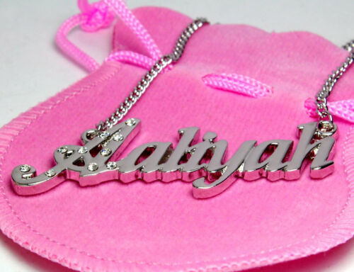 18K Gold PlatedValentines Mother/'s Day Birthday Name Necklace Aaliyah