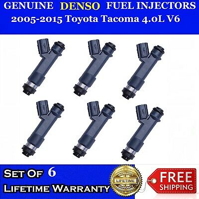 6x Genuine Denso Fuel Injectors For 2005-2015 Toyota Tacoma 4.0L V6 #23250-31010