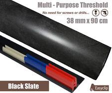 Black Slate Laminated Door Threshold 38mm Multi-Height/Pivots 90cm Multi-Purpose  sc 1 st  eBay & EasyClip 38x90cm Threshold Transition Cover Strip Multi Purpose All ...